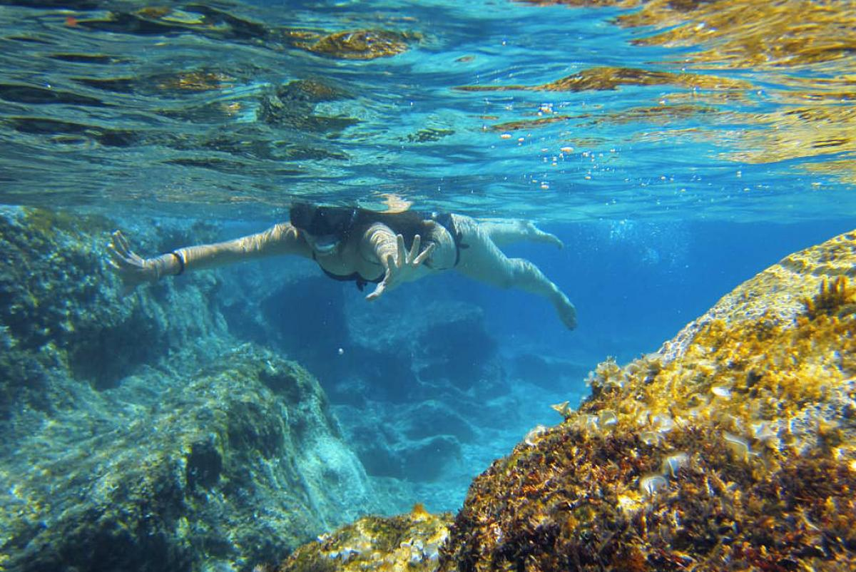 Snorkeling in Greece